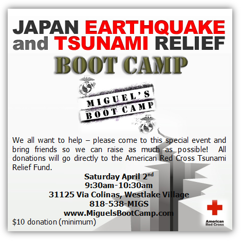 westlake village boot camp - tsunami relief